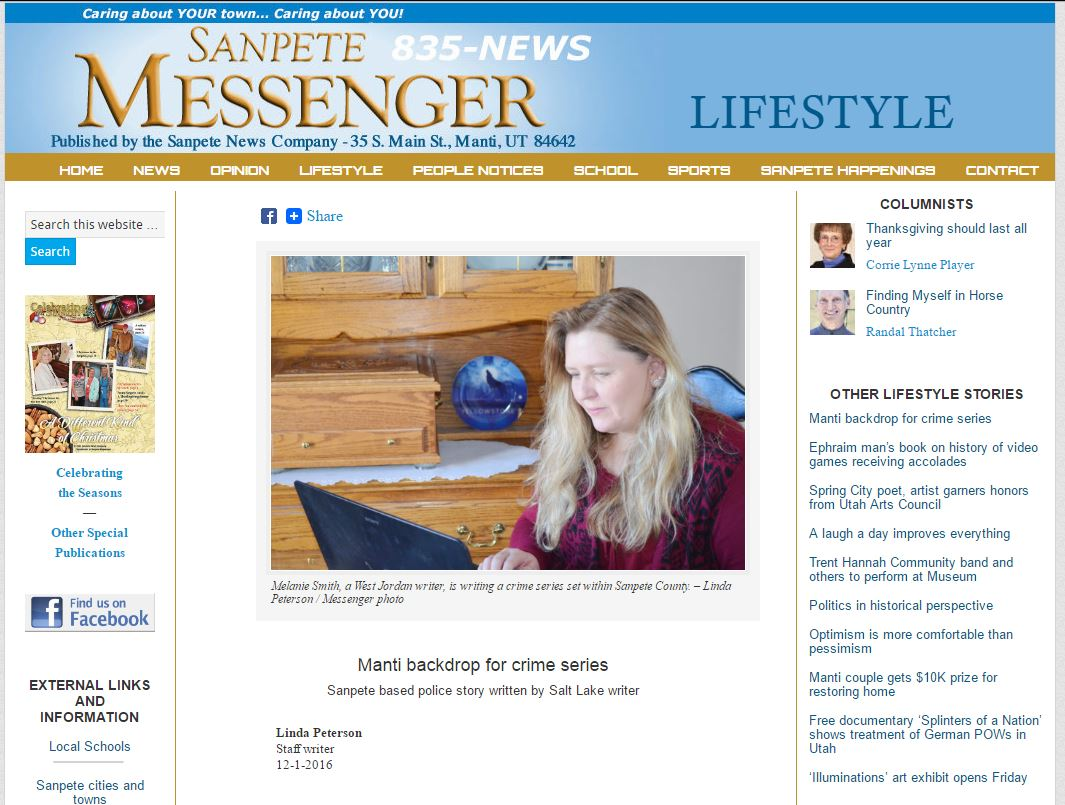 Lifestyle Interview - Sanpete Messenger